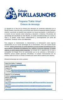 Comunicado - 02 Enlaces de descarga Puklla virtual